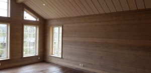 Laserad tak och väggpanel